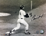 Charlie Hough Los Angeles Dodgers Reggie Jackson Home Run Autographed Photo (H& Signed Collectable) Photo