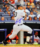 Jesus Montero Autographed Second Career Homerun Vertical Photo