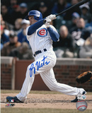 Ryan Theriot Chicago Cubs - Batting Autographed Photo (Hand Signed Collectable) Photo