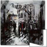 Rue dans New York Metal Print by  MN.FF