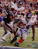 "Ahmad Bradshaw Super Bowl XLVI Game Winning TD ""Fall into Endzone"" Signed Vertical Photo Photo"