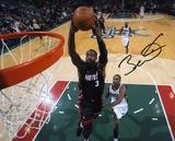 Dwyane Wade Miami Heat - vs Milwaukee Bucks Autographed Photo (Hand Signed Collectable) Photo