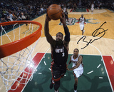 Dwyane Wade Miami Heat - vs Milwaukee Bucks Autographed Photo (Hand Signed Collectable) Photo