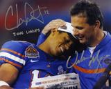 "Urban Meyer & Chris Leak Florida Gators ""2006 CHAMPS"" Autographed Photo (Hand Signed Collectable) Photo"
