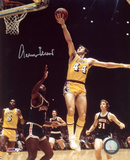 Jerry West Los Angeles Lakers vs. Milwaukee Bucks Autographed Photo (Hand Signed Collectable) Photo