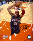 Vince Carter New Jersey Nets - Dunking in Blue Jersey Autographed Photo (Hand Signed Collectable) Photo