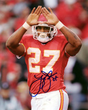 Larry Johnson Kansas City Chiefs - Rock Sign Photo