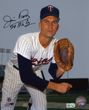 Jim Perry Minnesota Twins with 70 AL CY Inscription Photo