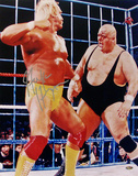 Hulk Hogan - WWE - With King Kong Bundy WWE Autographed Photo (Hand Signed Collectable) Photo