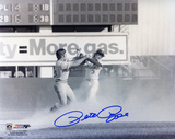 Pete Rose Cincinnati Reds Fight with Bud Harrelson B&W Autographed Photo (Hand Signed Collectable) Photo