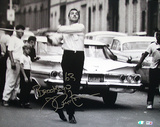 Joe Pepitone Playing Stickballw/ Stickball 1963 Inscription Photo