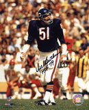 Dick Butkus Chicago Bears - Action with HOF 79  Autographed Photo (Hand Signed Collectable) Photo