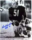 Dick Butkus Chicago Bears -Rookie- with HOF 79 Inscription Photo
