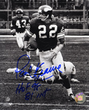 Paul Krause Minnesota Vikings with HOF 98 and 81 INT Inscriptions Photo