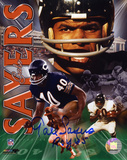 Gale Sayers Chicago Bears - Collage with 1965 ROY Inscription Photo