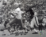 Dick Butkus Chicago Bears with HOF 79 Inscription Autographed Photo (Hand Signed Collectable) Photo