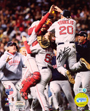 Kevin Youkilis Boston Red Sox World Series Celebration Autographed Photo (Hand Signed Collectable) Photo
