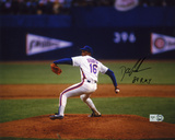 "Dwight ""Doc"" Gooden New York Mets Pitching with 84 ROY Autographed Photo (Hand Signed Collectable) Photo"