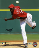Aroldis Chapman Cincinnati Reds Autographed Photo (Hand Signed Collectable) Photo
