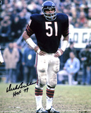 Dick Butkus Chicago Bears -Hands on Hips- with HOF 79 Inscription Photo