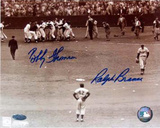 Ralph Branca / Bobby Thomson with Jackie Robinson Horizontal Photo