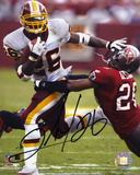 Clinton Portis Washington Redskins Autographed Photo (Hand Signed Collectable) Photo