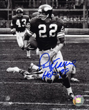 Paul Krause Minnesota Vikings - Action with HOF 98  Autographed Photo (Hand Signed Collectable) Photo