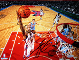 Tyson Chandler Signed Layup Horizontal Photo Fotografía