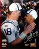 Tony Dungy SB XLI Close up view with Peyton Manning Fotografía