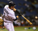 Evan Longoria Tampa Bay Rays -Hitting Autographed Photo (Hand Signed Collectable) Photo