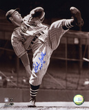 Bob Feller Cleveland Indians with HOF 62 Inscription Photo