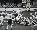 William Perry Chicago Bears Super Bowl XX TD B&W Action Autographed Photo (Hand Signed Collectable) Fotografía