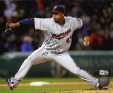Francisco Liriano  Minnesota Twins with NH 5-3-11 Inscription Photo