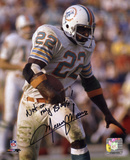 Mercury Morris Miami Dolphins with Not On My Block Inscription Photo