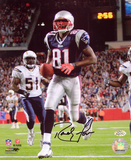 Randy Moss New England Patriots - Action Autographed Photo (Hand Signed Collectable) Photo