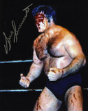 Bruno Sammartino WWE - Blood Autographed Photo (Hand Signed Collectable) Photo