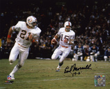 Earl Morrall Miami Dolphins with 17-0 Inscription Photo