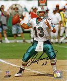Dan Marino Miami Dolphins - Passing Autographed Photo (Hand Signed Collectable) Photographie
