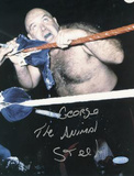 "George ""The Animal"" Steele Biting Rope Photo Photo"