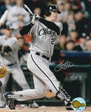 Geoff Blum White Sox 2005 WS Game 3 Winning Home Run Autographed Photo (Hand Signed Collectable) Photo