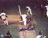 Bill Buckner & Mookie Wilson 1986 World Series Autographed Photo (Hand Signed Collectable) Photographie
