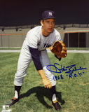 Stan Bahnsen New York Yankees with 68 ROY Inscription Photo