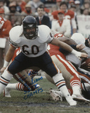 Tom Andrews Chicago Bears - Action with SB XX Champs Inscription Photo