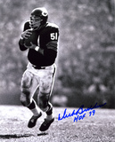Dick Butkus Chicago Bears -Intercepting- with HOF 79 Inscription Photo
