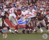 Eli Manning New York Giants - Super Bowl XLII Scramble The Scramble Inscription Photo