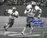 Rayfield Wright Dallas Cowboys with HOF Inscription Autographed Photo (Hand Signed Collectable) Photo