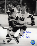 Gordie Howe Hartford Whalers Skating with Mr. Hockey 9 Autographed Photo (Hand Signed Collectable) Photo