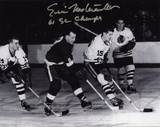 "Eric Nesterenko | Details: Chicago Blackhawks, Black and White, with ""61 SC CHAMPS"" Inscription Photo"