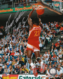 Dominique Wilkins Atlanta Hawks Dunk Contest Autographed Photo (Hand Signed Collectable) Photo