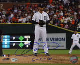 Armando Galarraga Detroit Tigers with 6-2-10 Inscription Photo